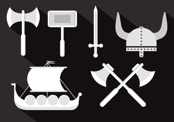 Viking Vector Illustrations - бесплатный vector #355723