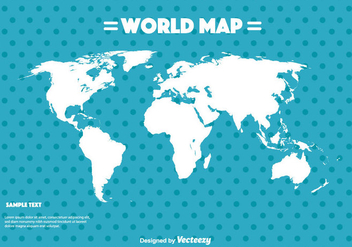 World Map Vector - vector #355753 gratis