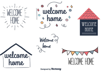 Welcome Home Vector Labels - бесплатный vector #355793