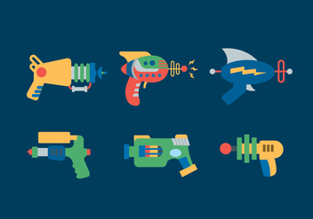 Laser Gun Vector Illustrations - бесплатный vector #355833