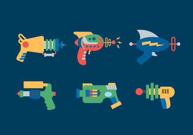 Laser Gun Vector Illustrations - vector gratuit #355833