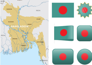 Vector Bangladesh Map - бесплатный vector #355873