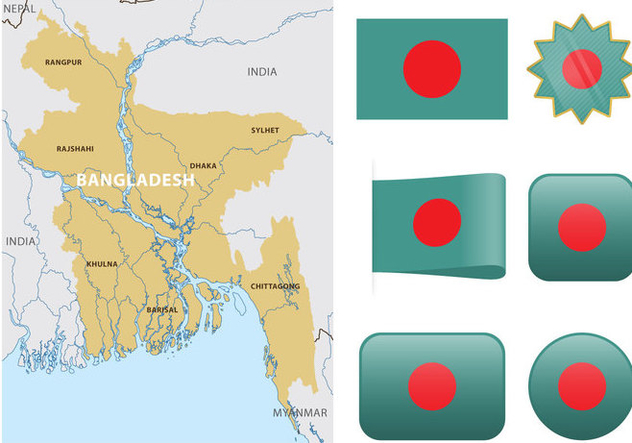 Vector Bangladesh Map - Kostenloses vector #355873
