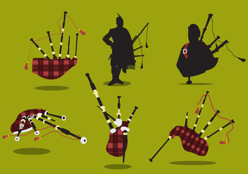 Scottish Bagpipes Vector - vector gratuit #355883