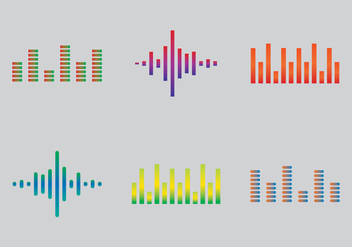 Free Sound Bars Vector Illustration - Kostenloses vector #355923