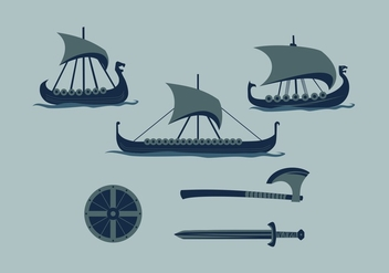 FREE VIKING SHIP 2 VECTOR - бесплатный vector #355933