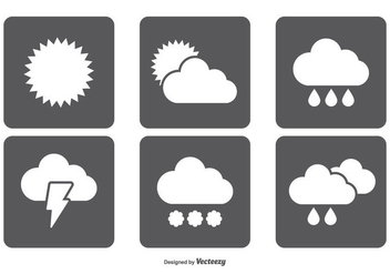 Simple Weather Icon Set - бесплатный vector #355943