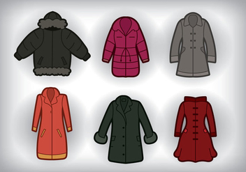 Winter Coat Vector - vector gratuit #355973