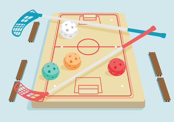 Floorball Vector - vector #356013 gratis