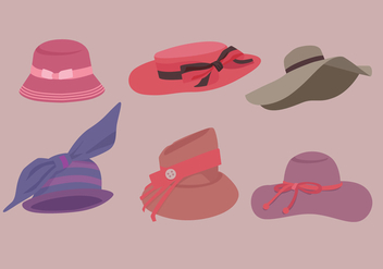 Ladies Hat Vectors - vector gratuit #356023