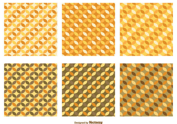 Retro Pattern Set - Free vector #356073