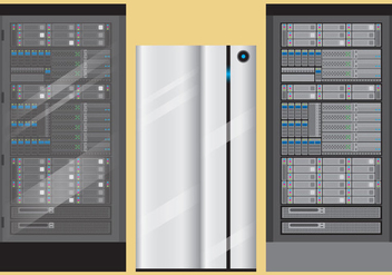 Server Rack Vectors - vector #356083 gratis