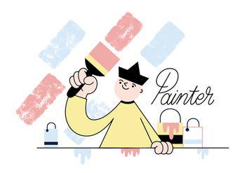 Free Painter Vector - vector #356113 gratis