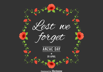 Free Anzac Day Vector Background - Free vector #356183