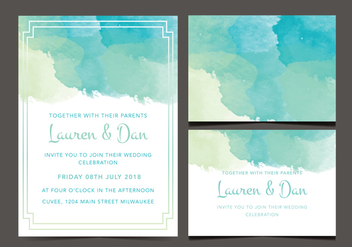 Free Wedding Invitation - бесплатный vector #356193