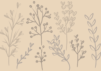 Vector Ink Branches - vector gratuit #356213
