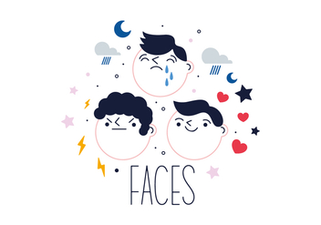Free Faces Vector - vector #356223 gratis