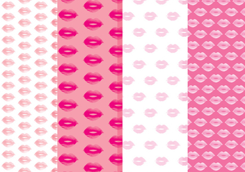 Free Lips Vector Patterns - vector gratuit #356243