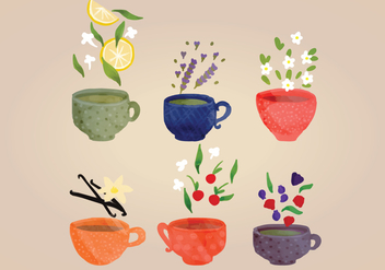 Hand-drawn Vector Tea Cups - Free vector #356253