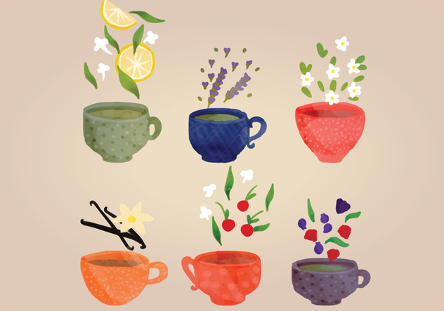 Hand-drawn Vector Tea Cups - бесплатный vector #356253