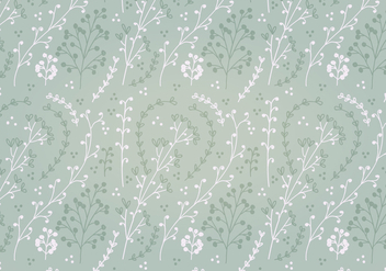 Free Soft Green Flower Vector Pattern - Free vector #356363