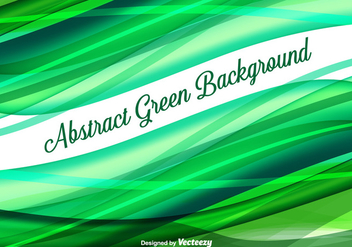 Abstract Green Vector Background - vector gratuit #356403