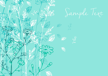 Floral Background Design - vector gratuit #356573