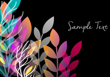 Decorative Floral Background Design - vector gratuit #356593