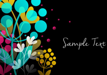 Colorful Floral Background - vector gratuit #356623