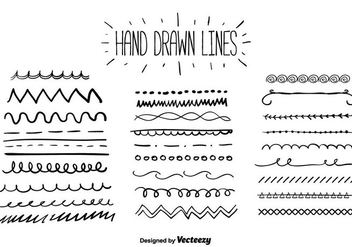 Hand Drawn Lines Vector - Free vector #356653