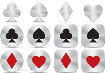 Aluminum Poker Icon Vector - Free vector #356723