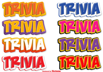 Stylized Trivia Text - Free vector #356743