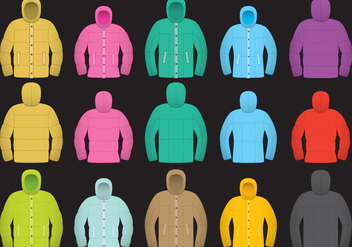 Colorful Wintercoat Vectors - vector gratuit #356753