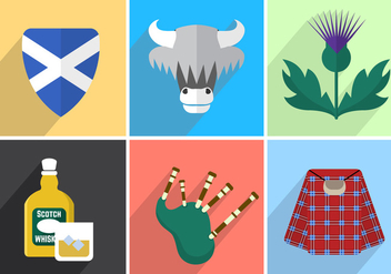 Scotland Vector Illustrations - Free vector #356793