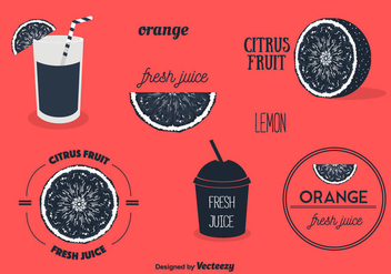 Fruit Labels Set Vector - vector gratuit #356803
