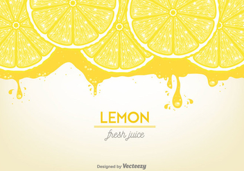 Lemon Juice Background Vector - vector gratuit #356873