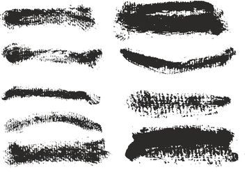 Free Vector Eroded Brush Strokes Set - Free vector #356903