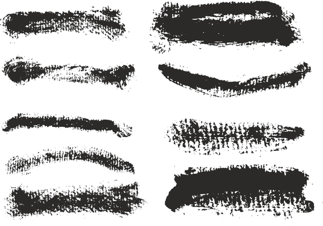 Free Vector Eroded Brush Strokes Set - Kostenloses vector #356903