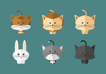 Cute Vector Animals - vector #357003 gratis