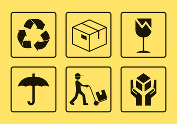 Package Handling Vector Icons - vector gratuit #357023