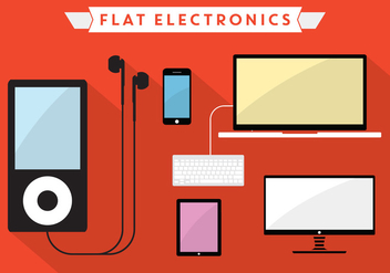 Flat Vector Electronics - Free vector #357063