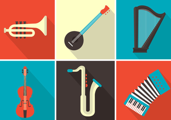 Vector Musical Instruments - vector gratuit #357103