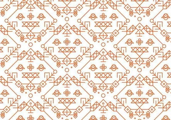 Red Decorative Pattern Vector - бесплатный vector #357183