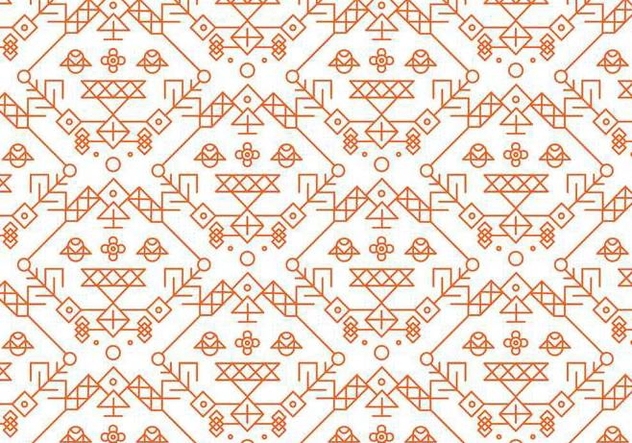 Red Decorative Pattern Vector - vector gratuit #357183