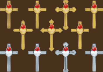 Sacred Cross Vectors - бесплатный vector #357193