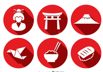 Japanese Culture Icons Vector - Free vector #357213