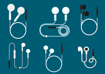 Ear Buds Vector Sets - Kostenloses vector #357223