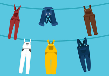 Vector Overalls on the Line - vector #357233 gratis
