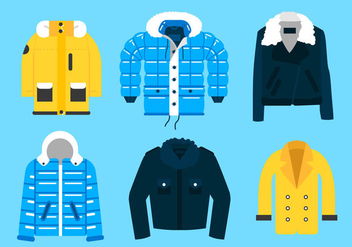 Winter Coat Vectors - бесплатный vector #357253