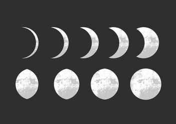 Moon Phase Vectors - Free vector #357263